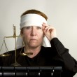 Justice Blindfolded — Stock Photo #49956165