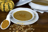 Tureen of Curried Pumpkin Soup — Photo