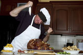 Attacking the Turkey — Stock Photo