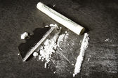 Line of Cocaine — Stock Photo
