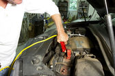 Man with Jumper Cables — Foto Stock