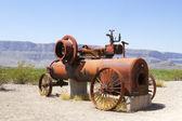 Antique Steam Railroad Engine — Stok fotoğraf