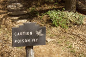 Caution Poison Ivy — Stock Photo