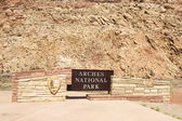 Entrance to Arches National Park — Stock Photo
