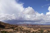 Kanyon vista üzerinde şekillendirme fırtına — Stok fotoğraf