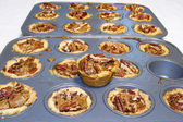 Baking Pecan Tarts — Stock Photo