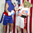 Democrat Beating Up on Republican — Stock Photo #50016011