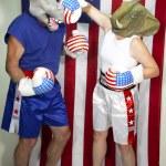 Republican Beating Up on Democrat — Stock Photo