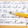 Writing Cursive — Stock Photo #50018001
