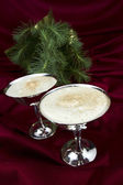 Eggnog with Evergreen — Stock Photo
