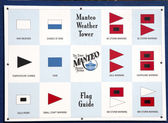 Manteo Weather Tower Flag Guide — Zdjęcie stockowe