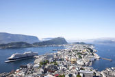 Alesund Norway Port with Cruise Ship — Stock Photo