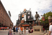 Babe Ruth Statue at Camden Yards — Stock Photo