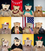 Calendar Bears — Stock Photo