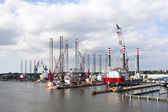 Shipyard for Offshore Platforms — Stock Photo