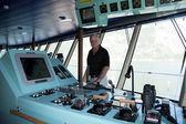 Touring Navigation Deck — Stock Photo