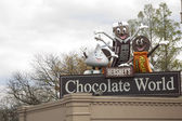 Sign for Hershey Chocolate World — Stock Photo