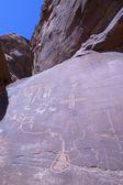 Petroglyphs on Canyon Wall — Stock Photo