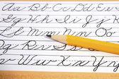 Writing Cursive — Stock Photo