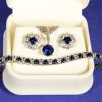 Sapphire and Diamond Jewelry — Stock Photo #50027709