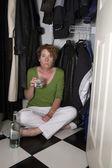 Closet Drinker Surprised — Stock Photo