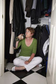 Closet Drinker — Stock Photo