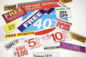 Coupon Offers — Stock Photo