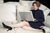 Business Woman Working from Home — Stock Photo