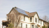 Victorian House with Solar Panels — Stock Photo