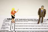 Woman with Accountant — Zdjęcie stockowe