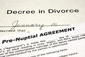 Pre-Nuptial with Divorce Decree — Stock Photo