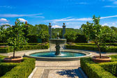 Fountain with parkland — Stock Photo
