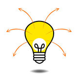 Smart Thinking Bulb Lamp — Stock Vector