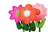Three Floppy Wooden Flower Toys — Stock Photo