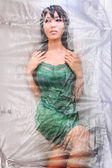 Dolly Body covered with Cellophane — Stock Photo