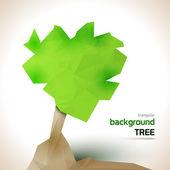 Triangular tree — Stock Vector
