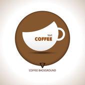 Forma de taça de café, — Vetor de Stock