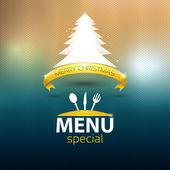 Christmas restaurant special menu — Stock Vector
