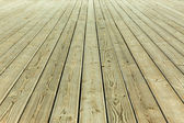 Wooden deck on the pier — Stock Photo