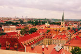 Red roofs of ancient city Prague — Stock Photo