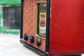 Radio antiguo vintage de la época soviética urss — Foto de Stock