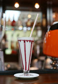 Multicoloured Milk Shake Cocktail — Stockfoto