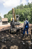 Development of the pit excavator — Stock Photo