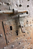 An old medieval keyhole - security concept and protection — Zdjęcie stockowe