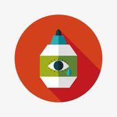 Eye Drop flat icon with long shadow — Stock Vector