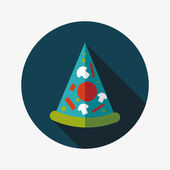 Pizzy płaski ikona z długim cieniem, eps10 — Wektor stockowy