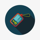 Identification card flat icon with long shadow — Cтоковый вектор