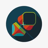 Traje de natación icono plana con larga sombra — Vector de stock