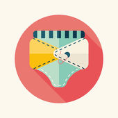 Diaper flat icon with long shadow,EPS 10 — Vector de stock