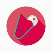 Perno de seguridad icono plana con sombra, eps 10 — Vector de stock